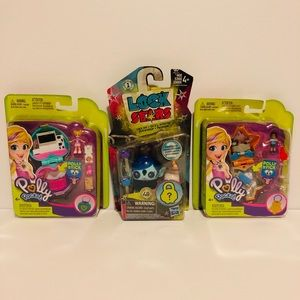 Lot of 3 Polly Pocket Lock Starz BNWT sealed girls
